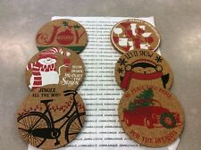 Cork Coasters Ganz Set Of Six New With Tags Great Hostess Gift Ships Out Now!
