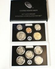 2017 S 225TH ANNIVERSARY ENHANCED UNCIRCULATED 10 COIN SET W/ LINCOLN CENT 17XC