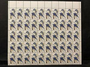 AUDUBON, AMERICAN ARTIST 1963, scott #1241, .05 ct 50 stamps sheet, MNH