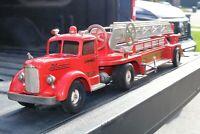 "SMITH-MILLER ""L"" Mack AERIAL LADDER FIRE TRUCK NO 3  - Pressed Steel - USA"