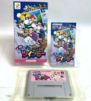 Nintendo Super Famicom Soft KONAMI Pop'n Twinbee With Box Japan Fedex