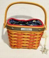 Longaberger 2001 Inaugural/patriotic Basket with Liner, Protector & Tie on
