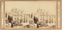 Italia Milan Cattedrale Ca 1865 Foto Amodio Napoli Stereo Vintage Albumina