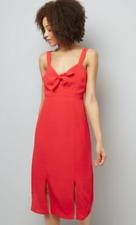New Look Women's Red Dress rrp £24 Size Uk 8 LS171 NN 08