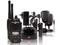 GME TX6160TP UHF RADIO 5W HANDHELD 80CH WATERPROOF TWIN TRADIE PACK HARD CASE