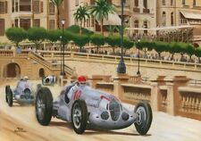 Painting 1937 Monaco Grand Prix by Toon Nagtegaal