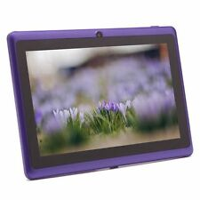 "Purple 8GB 7"" Android 4.4 Tablet PC for Kids Children A33 Quad Core Kid MID WiFi"