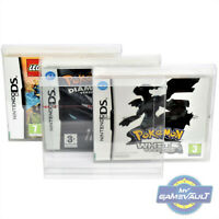 DS Game Box Protectors x 25 for Nintendo STRONG 0.4mm PET Plastic Display Case