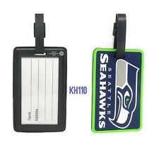 NFL Seattle Seahawks Soft Luggage Bag Tags /Gym bag / Golf bag