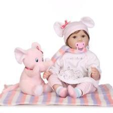 "Lifelike Reborn Baby Dolls Silicone Vinyl 22"" Collectable Newborn Bebe Plush Toy"