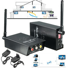 2.4GHz Wireless Audio Video AV TV Transmitter Receiver Sender 4 Channels TV VCR