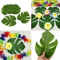 32Artificial Tropical Palm Leaves Hawaiian Simulation Home Beach Party Decor