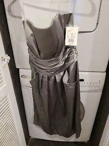 Beautiful Formal Davids Bridal Gray Dress Brand New With Tags Size 2