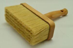 170 x 70 Wooden Pure Bristle Mix Ceiling Brush, Block Paint Brush Masonry Fence.