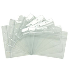 20X Clear Transparent PVC Plastic Pocket Wallet ID Card Pass Badge Holder Case H