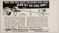 1955 Print Ad Tee-Nee Model OB-40 Boat Trailers Youngstown,Ohio