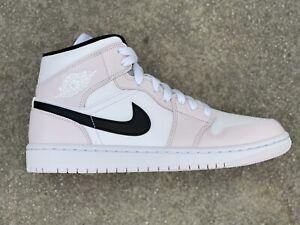 Nike Air Jordan 1 Mid Barley Rose Pink White Black BQ6472-500 Size 8.5W