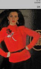 "1034 Ladies DK Crochet Jacket 32-38"" Vintage Crochet Pattern"