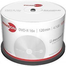 50 x PRIMEON Dvd-r 4.7gb 120 minuti 16x Cake Box DVD R -r 1 CD Verbatim 2761204