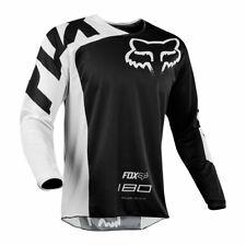 FOX Men RACING 180 MOTOCROSS MX BIKE MTB JERSEY Shirt Mountain Bike RACE Black