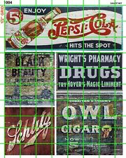 1004 DAVE'S DECALS HO GHOST SIGN SODA COLA TOBACCO ADVERTISING