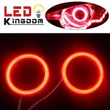 2x 12V-24V 70mm Red COB LEDs Angel Eyes Halo Ring Headlight&Fog DRL Lamps US