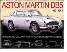 ASTON MARTIN PARKING SIGN SMALL 6x8in 15x20cm RETRO VINTAGE STYLE tin wall art shed workshop garage classic cars