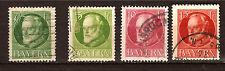 ALLEMAGNE BAYERN 4 timbres oblitérés 1900/20 Ludwig III PR283