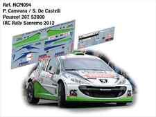 DECALS 1/43 PEUGEOT 207 S2000 - #7 CAMPANA - RALLYE IRC SANREMO 2012- NCM094