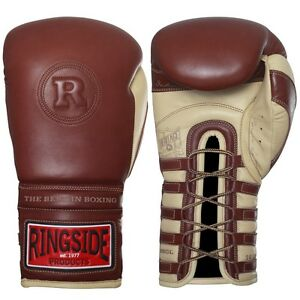 Ringside Heritage Sparring Gloves Lace Up Boxing Kickboxing Muay Thai Training