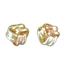 9ct gold small multi colour knot stud 7mm