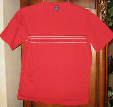 Class Club Size L Red w Navy/White Stripe Short Sleeve Top Boys Large Cotton
