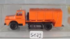 Brekina 1/87 Nr. 84006 Henschel LKW Müllwagen Straßenmeisterei OVP #5172