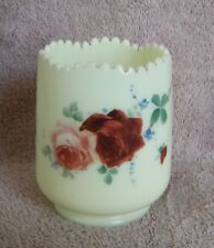 Jefferson Glass Co. Custard ROSE/OPTIC/ROSE-OPTIC Pattern Spooner - ca.1912