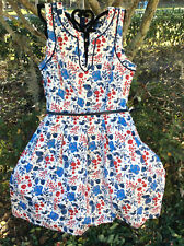 $130 Tommy Hilfiger Women.s Floral  Cotton A Line Dress Size 8