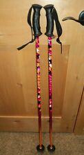 "SCOTT orange pink 40"" / 100 cm youth kids jr Junior Ski Poles EUC"