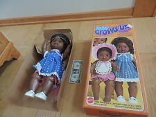 BABY GROWS UP AFRICAN AMERICAN BLACK DOLL 1978 MATTEL MIB Never Played With
