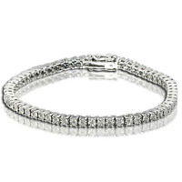 2 Row Woman/'s Tennis Bracelet With Natural Diamonds 7.5 Inches