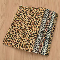 A4 Leopard Print PVC Leather Fabric DIY Sewing Accessories Craft for Garment