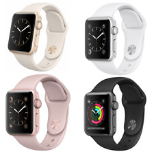 Apple Watch 1st Gen, 42mm, Stainless Steel Case, White Sport Band - (WIFI ONLY)