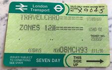 VINTAGE LONDON TRANSPORT TRAVELCARD - ZONES 1&2 - MARCH 1983 - VERY GOOD