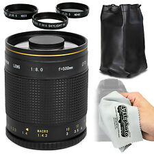 Super 500mm f/8 HD Mirror Telephoto Zoom Lens for Sony Alpha E-Mount