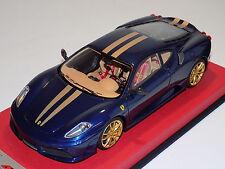 1/18 Looksmart MR Ferrari F430 Scuderia Blue Tour de France Gold Stripes Lim 25