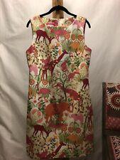 New! B The Collection Size 10 Elephant Flamingo Monkey Giraffe Safari Dress