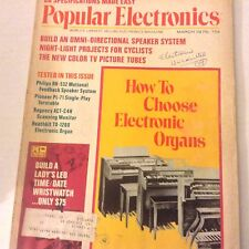 Popular Electronics Magazine Choose Electronic Organs March 1975 071917nonrh