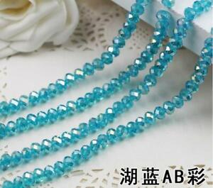 Faceted Rondelle Bicone Glass Crystal Loose DIY Beads Assorted 8mm 35pc 010