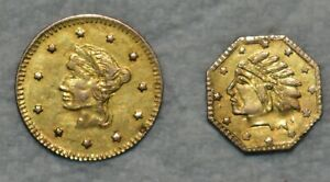 1849 and 1850 Californian Fractional Gold Pieces, Problem-Free.