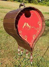 Beautiful Functioning Birdhouse Rustic/ Gypsy Barrel Style Fancy