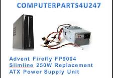 Adviento Firefly FP9004 delgada 250W fuente de alimentación ATX de reemplazo
