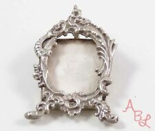 Sterling Silver Vintage 925 Mexican Picture Frame Brooch Pendant Pendant (11g)